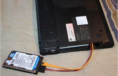 Как подключить второй hdd к ноутбуку?
